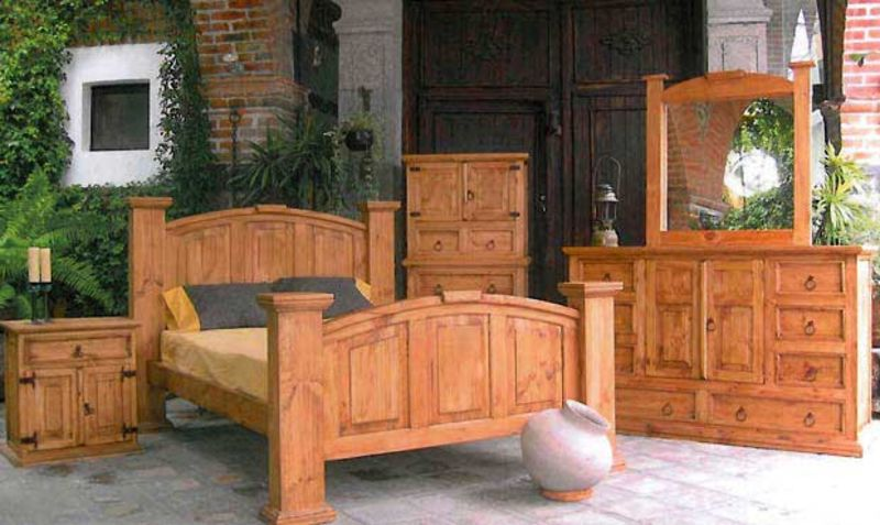 Traditional Mansion Rustic Bedroom Set
