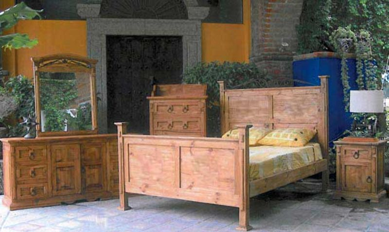 San Gabriel Rustic Bedroom Set