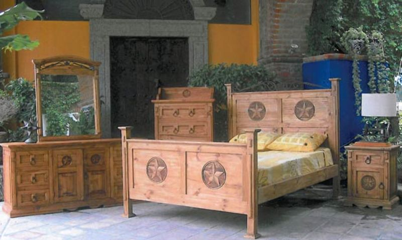 San Gabriel Rustic Bedroom Set with Stars