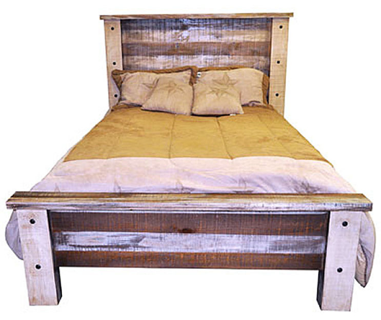 Slatted Wood Rustic Bedroom Set