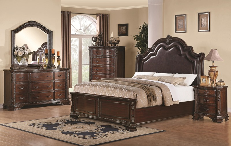 laughton rustic bedroom set with upholstered bed maddison bedroom set