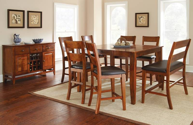 Mango Pub Table Set with Bench