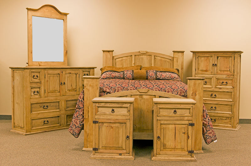 Cam070 Mansion Rustic Bedroom Set