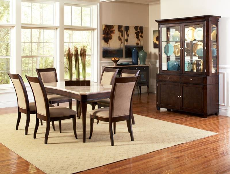 Marseille Dining Table Set with Marble Top