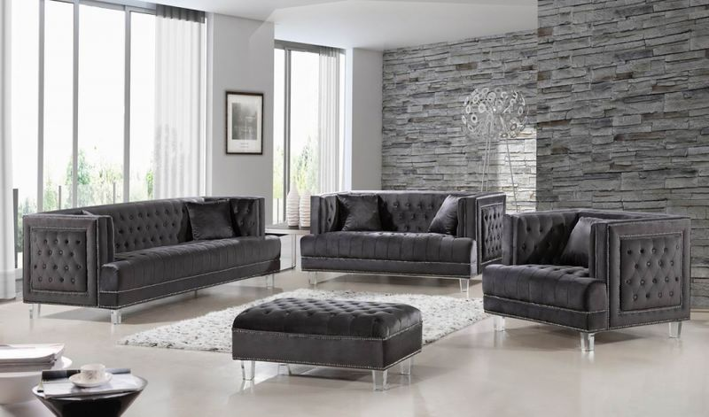 Dallas Designer Furniture Lucas Living Room Set In Grey