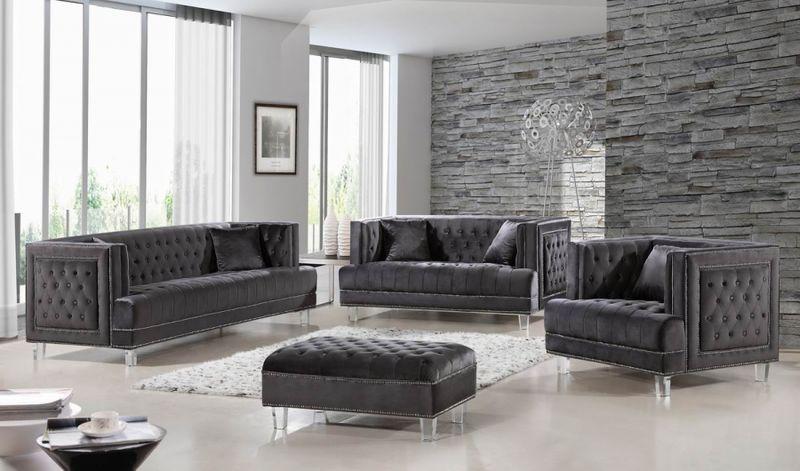 Lucas Living Room Set in Grey