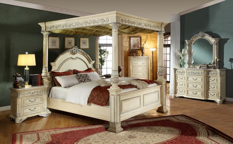 dallas designer furniture | sienna bedroom set with canopy bed