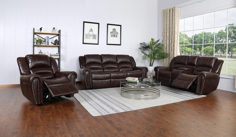 Braxton Living Room Set in Brown