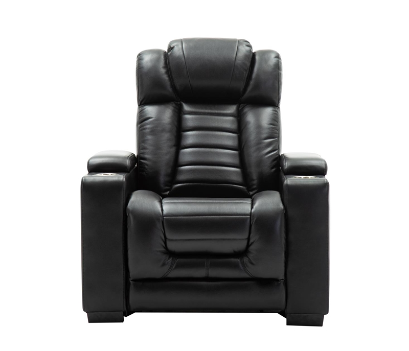Collin Reclining Living Room Set in Black