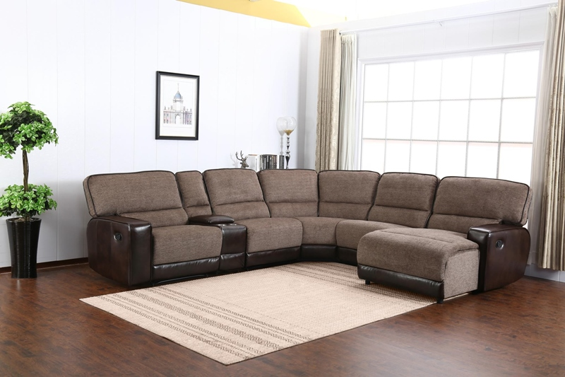 Siena Living Room Sectional in Brown
