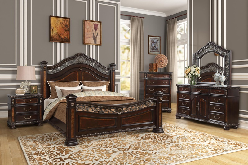 Ballard Bedroom Set in Cherry