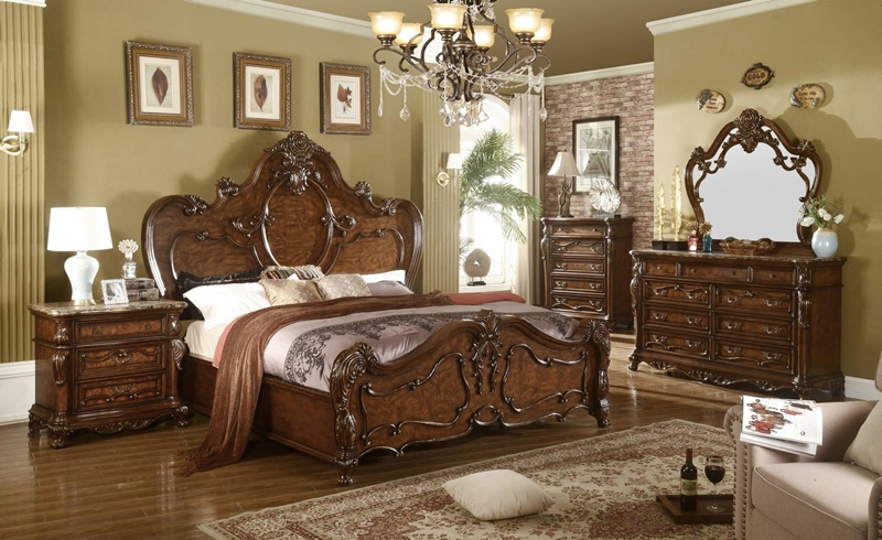 Brayton Bedroom Set in Cherry