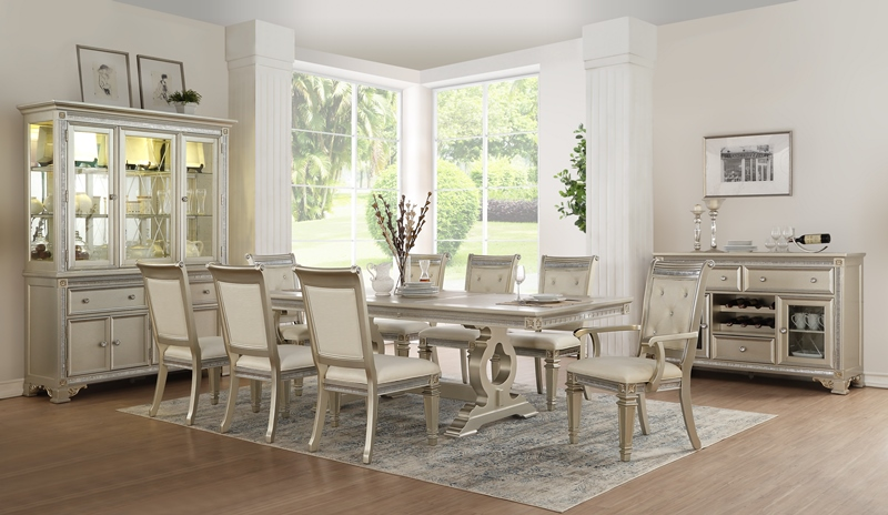 Gracie Dining Room Set in Pearl White