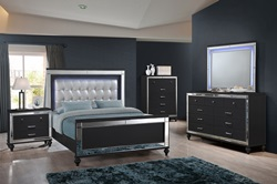 Valentino Bedroom Set in Black
