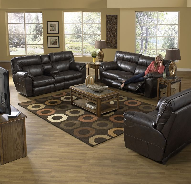 Nolan Reclining Living Room Set in Godiva with Power Motion
