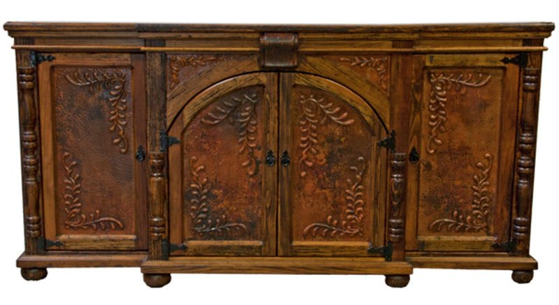 Old Wood Rustic Copper Buffet
