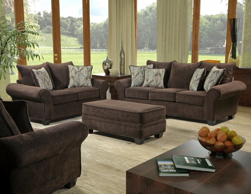 Artesia Chocolate Behold Living Room Set