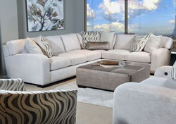 Chandler Sectional Sofa in Pebble