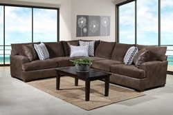 Winston Sectional Sofa in Saddle
