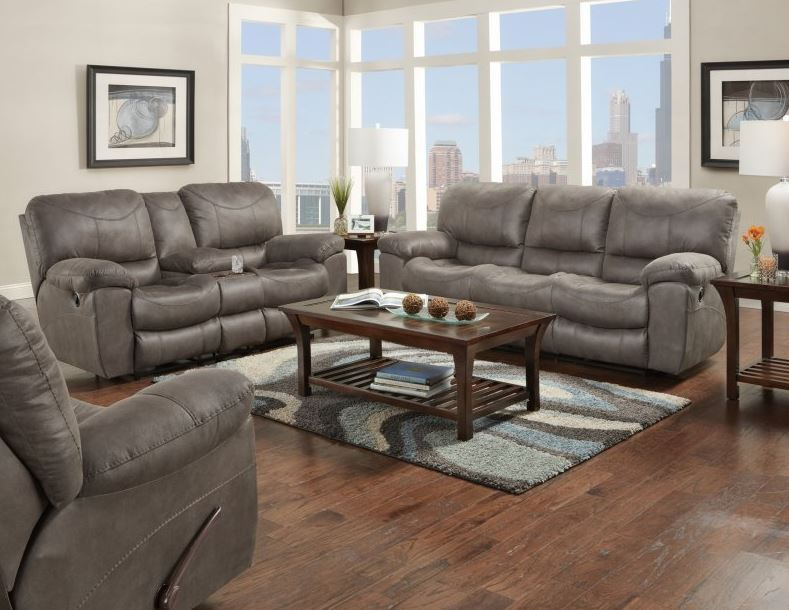 Trent Charcoal Reclining Living Room Set