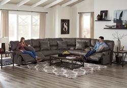 Monaco Reclining Sectional in Charcoal