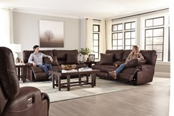 Monaco Reclining Living Room Set in Chocolate