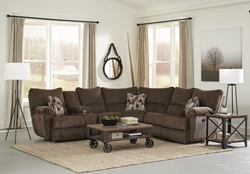 Elliot Reclining Sectional in Chocolate