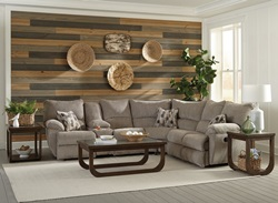 Elliot Reclining Sectional in Pewter