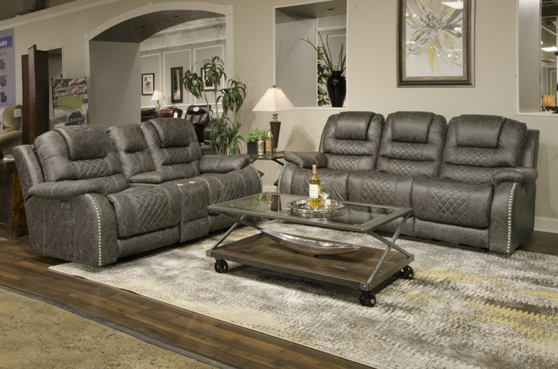 Romelle Graphite Reclining Living Room Set