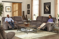 Reyes Reclining Living Room Set in Graphite