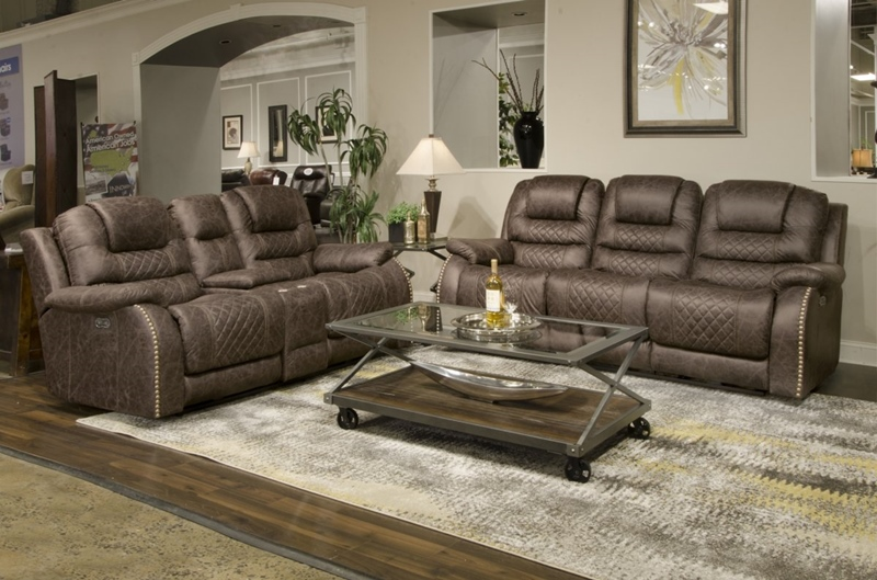 Carter Saddle Reclining Living Room Set