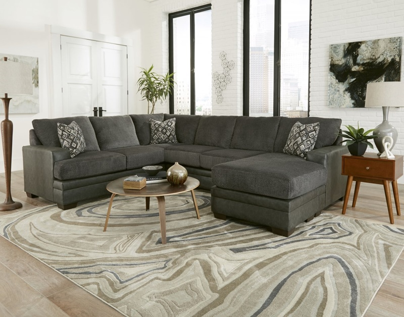 Stallion Charcoal Living Room Sectional
