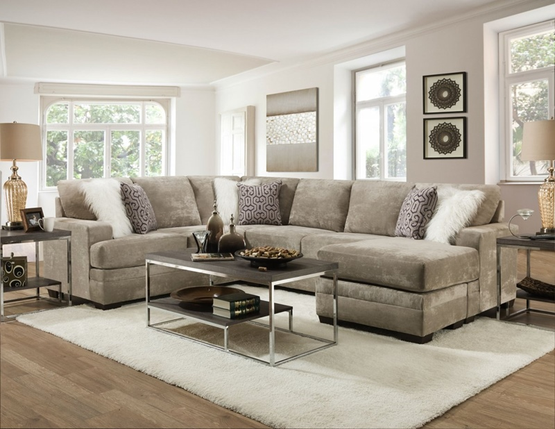 Hearth Living Room Sectional in Cement