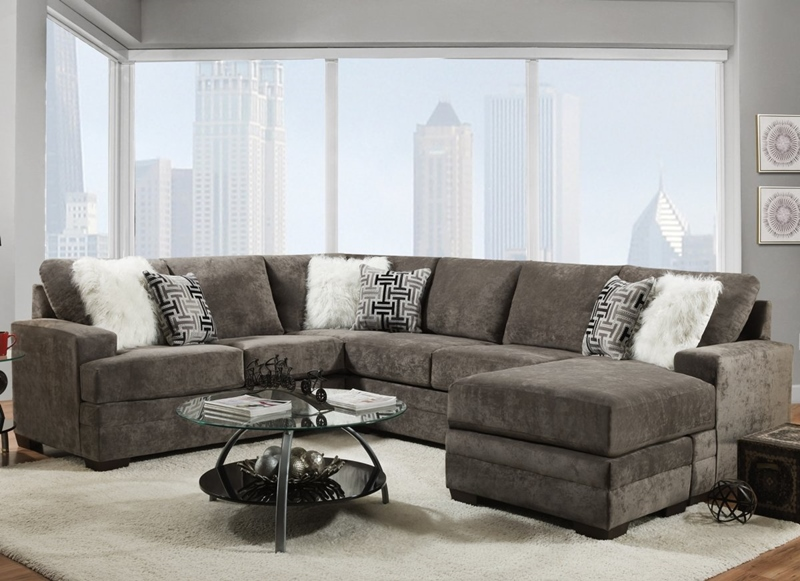 Hearth Living Room Sectional in Charcoal