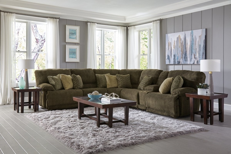 Burbank Chocolate Motion Sectional