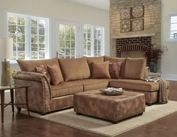 Padre Sectional Sofa in Almond