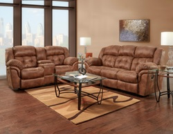 Padre Reclining Living Room Set in Almond