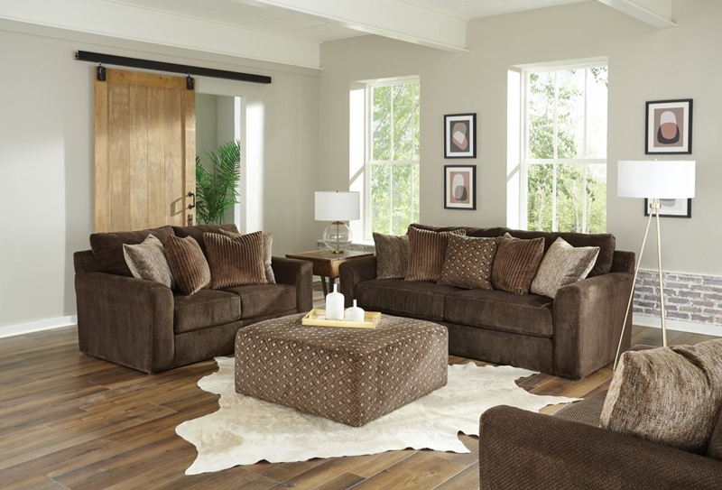 Midwood Living Room Set in Chocolate