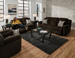 Donnelly Reclining Living Room Set in Brown