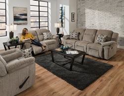 Donnelly Reclining Living Room Set in Stone
