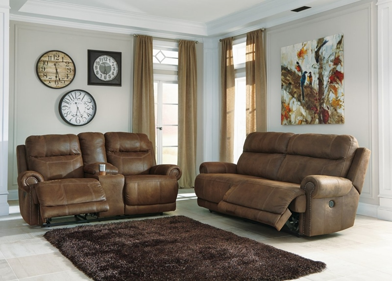Austere Brown Reclining Living Room Set