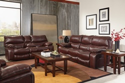 Camden Reclining Living Room Set in Walnut