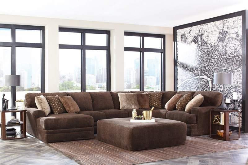 Mammoth Chocolate Sectional with LAF Chaise