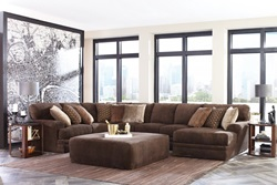 Mammoth Chocolate Sectional with RAF Chaise