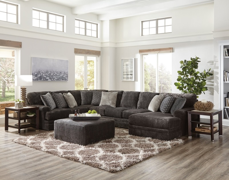 Mammoth Smoke Sectional with RAF Chaise