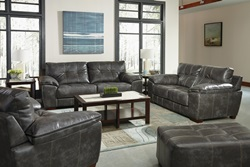 Hudson Living Room Set in Steel