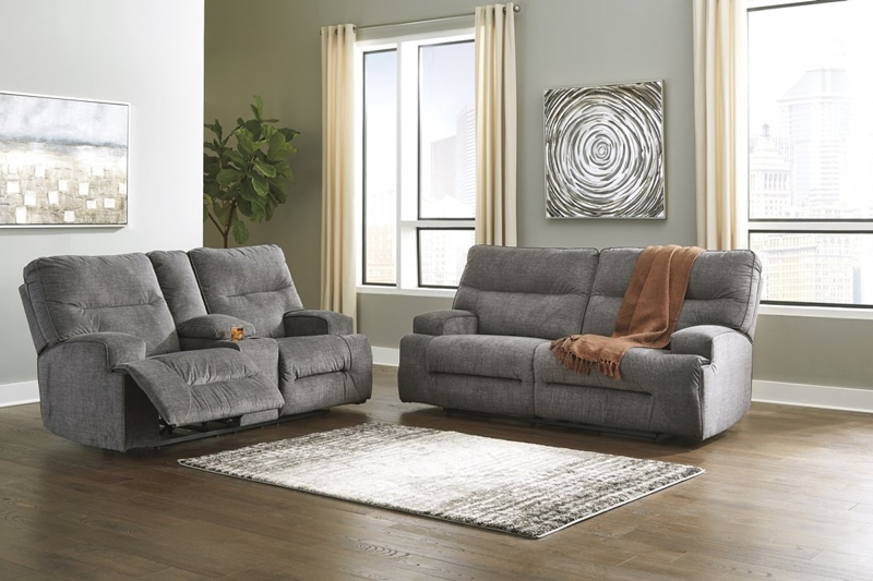Coombs Charcoal Reclining Living Room Set