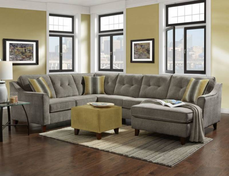 Page Sectional Sofa in Grey