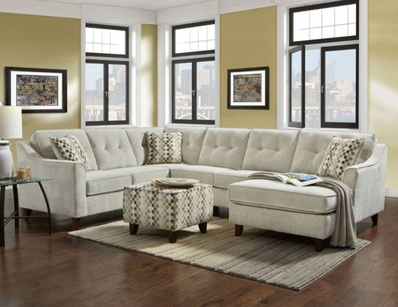 Page Sectional Sofa in Ivory