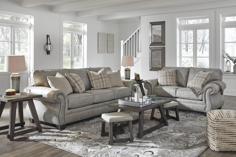 Olsburg Living Room Set in Fabulous Gray